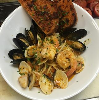 Seafood Linguine for dinner We think yes dinner getitatgalpin order delivery togo postmates yelp yelpla seafood pasta starving hungry foodie forkyeah lafoodie lafood