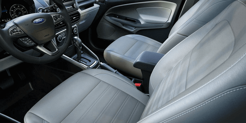 2018 Ford EcoSport Heated leather-trimmed front seating.