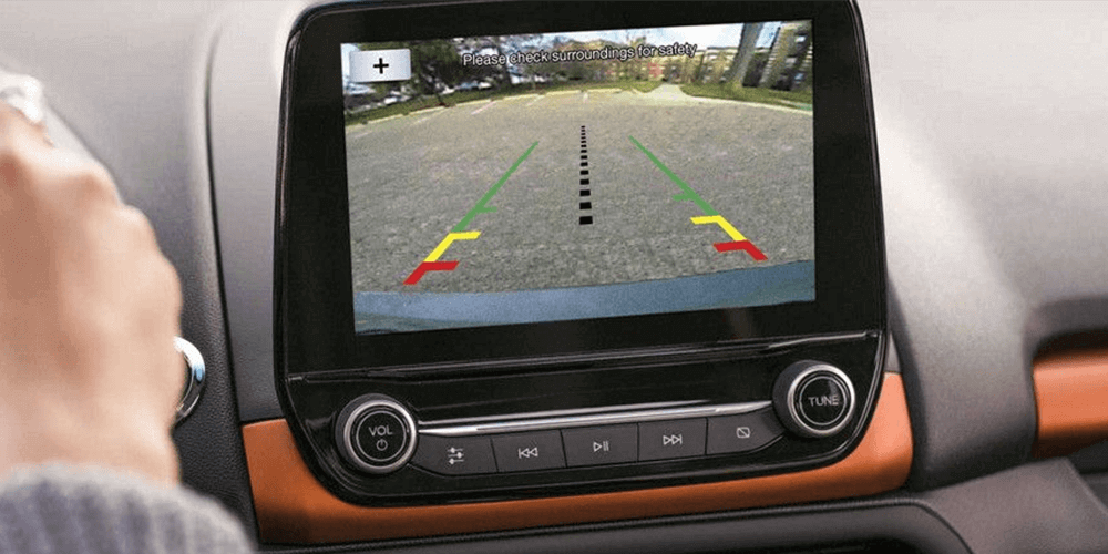2018 Ford EcoSport Standard rear view camera.