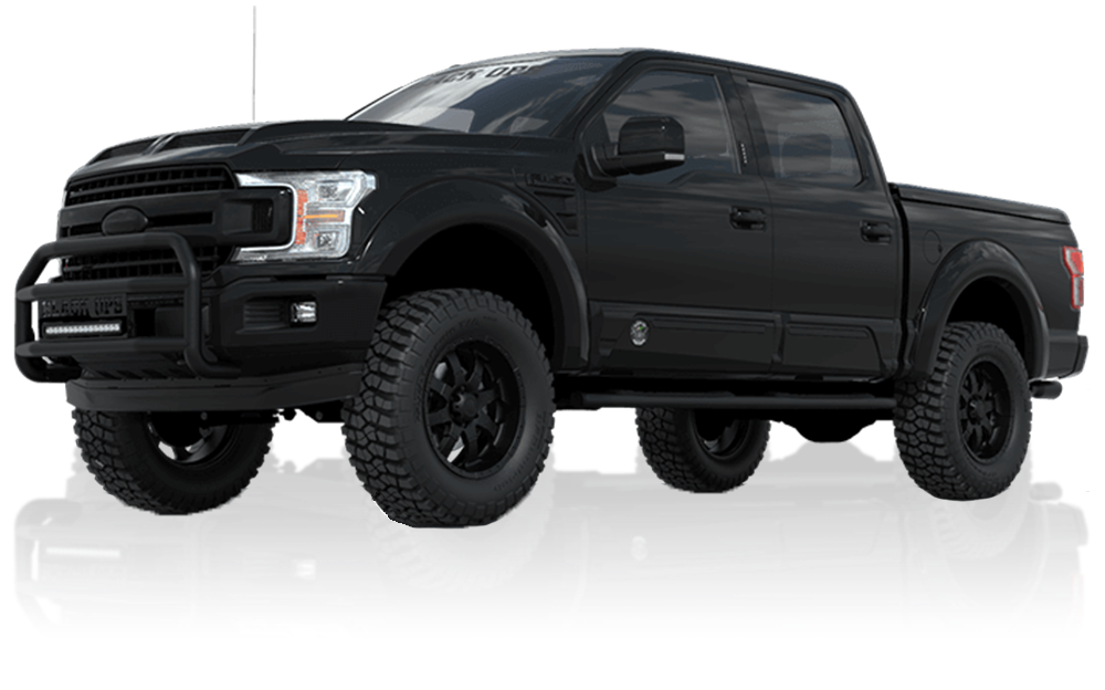 Tuscany custom Ford F-150 Black Ops lifted truck for sale at McRee Ford near Houston