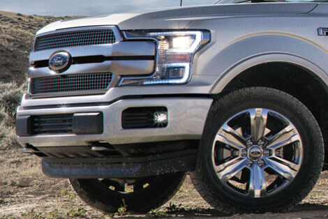 2018 Ford F-150 GRILLE - SATIN FINISH MAIN BARS WITH CHROME MINOR BARS STYLE, SATIN FINISH SURROUND AND SILVER INSERTS