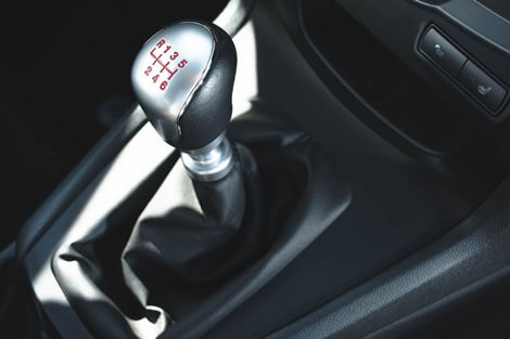2018 Ford Fiesta LEATHER-WRAPPED SHIFT KNOB WITH METALLIC-TRIM INSERT (AUTOMATIC ONLY)