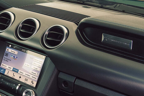 2018 Ford Mustang ENGINE SPUN ALUMINUM INSTRUMENT PANEL APLIQUE
