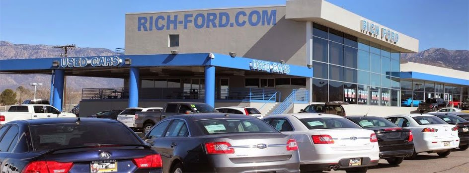 Used Car Dealer Inventory Cars Trucks Rich Ford Albuquerque