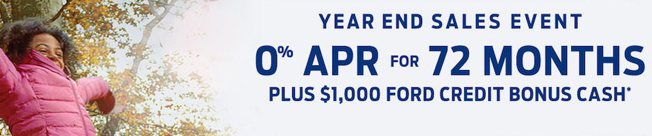 Ford Year End Sales Event