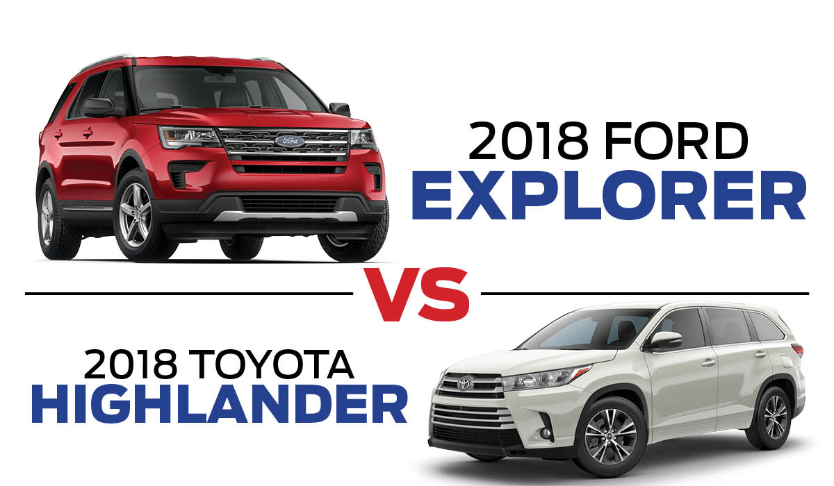 2018 Ford Explorer vs 2018 Toyota Highlander