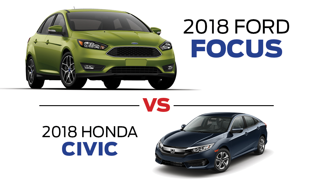 2018 Ford Focus vs 2018 Honda Civic